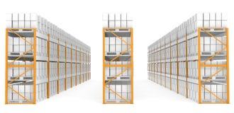 Mensole del magazzino illustrazione di stock