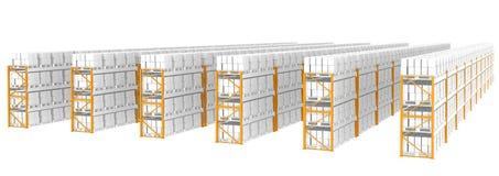 Mensole del magazzino illustrazione vettoriale