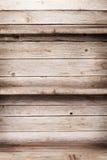 Mensole di legno vuote Fotografie Stock Libere da Diritti