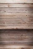 Mensole di legno vuote Fotografie Stock