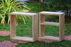 Mensole di legno vuote Immagini Stock