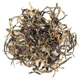 Mensong Menghai red yunnan chinese tea crop closeup isolated Stock Photo