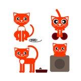 Mensonge rouge de chat Photo libre de droits
