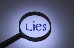 mensonges Image stock