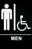 Mensrestroom-Zeichen auf Schwarzem Lizenzfreie Stockbilder