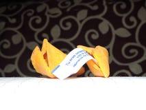 Menssage de la galleta Foto de archivo libre de regalías