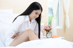 Menstrual cramps a big problem for all women stock photography