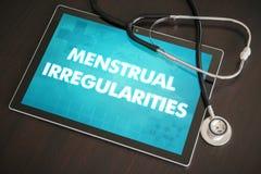 Menstrual irregularities (menstrual cycle related) diagnosis med Royalty Free Stock Photo