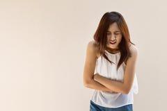 Menstruation pain or stomach ache Stock Photos