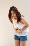 Menstruation pain or stomach ache Royalty Free Stock Photos