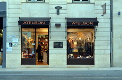 Menswear boutique Atelson Royalty Free Stock Images