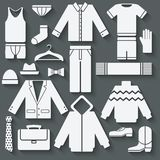 Menswear icons set Royalty Free Stock Image