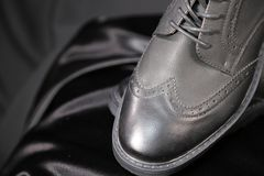 Menswear luxury fashion shoes and clothing industry stock photos