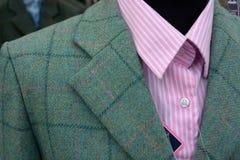 Menswear tweed jacket and shirt Royalty Free Stock Photos