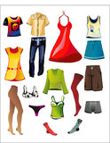 Menswear, womenswear. Womenswear, menswear, underwear for everyday life Royalty Free Stock Photo