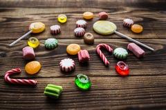 Menta de madera del día de fiesta del caramelo brillante Fotografía de archivo