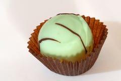 Menta del chocolate en una envoltura de Brown Imagen de archivo