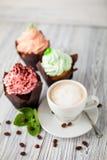 Menta del cofee de las tortas Foto de archivo libre de regalías