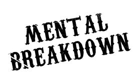 Mental Breakdown rubber stamp Stock Photography
