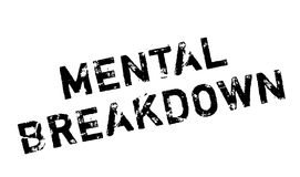 Mental Breakdown rubber stamp Stock Photo