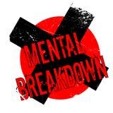 Mental Breakdown rubber stamp Stock Images