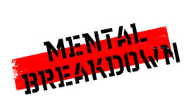 Mental Breakdown rubber stamp Royalty Free Stock Photos