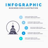 Mental Concentration, Concentration, Meditation, Mental, Mind Solid Icon Infographics 5 Steps Presentation Background vector illustration