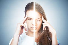 Mental difference concept Royalty Free Stock Photo