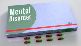 Mental disorder medicines Stock Image