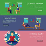 Mental disorder psychological treatment Stock Photos
