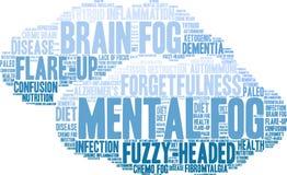 Mental Fog Word Cloud. On a white background vector illustration