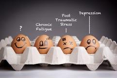 Mental hälsabegrepp Arkivbild