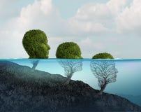 Mental hälsanedgång stock illustrationer
