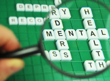 Mental health. Focus on mental health concept Stock Photos