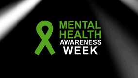 Mental Health Awareness week poster and banner, highlighting awareness of mental health. Mental Health Awareness an annual campaign  highlighting awareness of royalty free illustration
