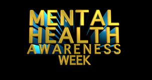 Mental Health Awareness an annual campaign highlighting awareness of mental health. 3D illustration - Illustration royalty free stock photography