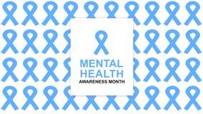 Mental Health Awareness an annual campaign highlighting awareness of mental health. Design illustration - Illustration stock illustration