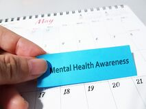 Free Mental Health Awareness Month In May. Royalty Free Stock Images - 216904689