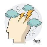 Mental health brain storm ideas. Vector illustration eps 10 Stock Photos