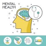 Mental health design. Icon vector illustration graphic design Stock Images