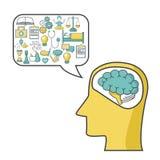 Mental health design. Icon vector illustration graphic design Stock Photos
