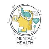 Mental health design. Icon vector illustration graphic design Stock Photography