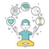Mental health design. Icon vector illustration graphic design Stock Image