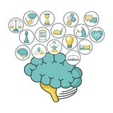 Mental health design. Icon vector illustration graphic design Royalty Free Stock Images