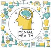 Mental health design. Icon vector illustration graphic design Royalty Free Stock Image
