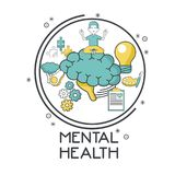 Mental health design. Icon vector illustration graphic design Royalty Free Stock Photo
