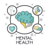 Mental health design. Icon vector illustration graphic design Royalty Free Stock Photos