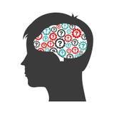 Mental health design Royalty Free Stock Photos