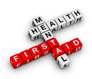 Mental health first aid crossword Royalty Free Stock Photos