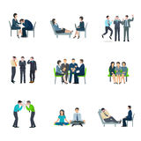 Mental health flat icons set Stock Photos